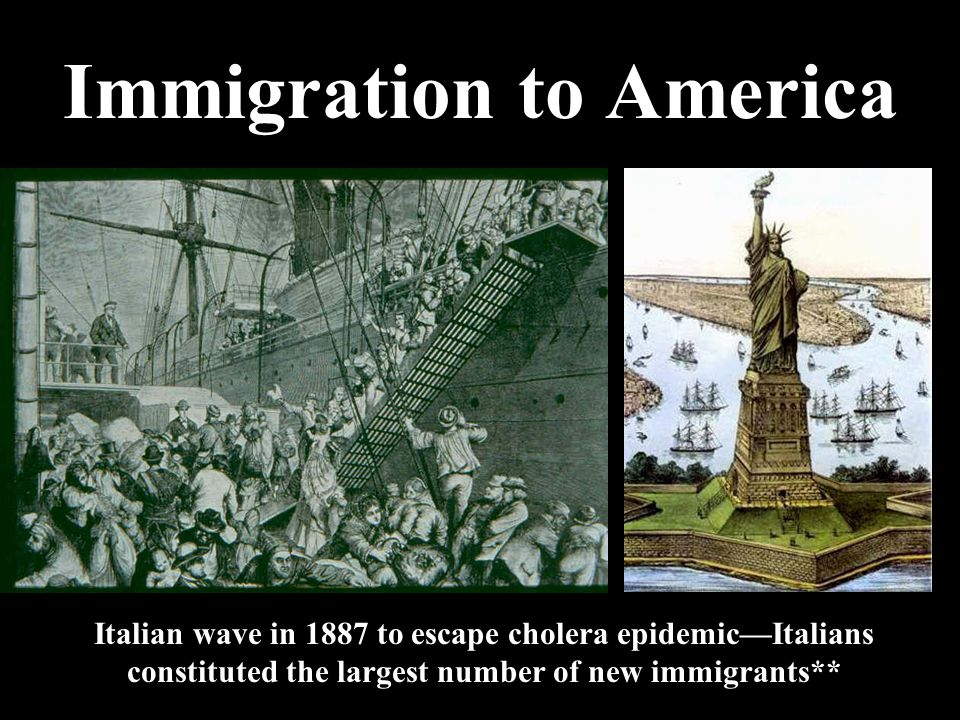 Immigration to America Waves of immigration poured into the U.S. in the late- 19th century. While this was not new, the origin of these immigrants— So