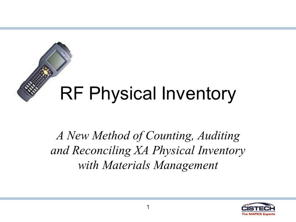 32 Updating On Hand Balances Once all count items have been approved, Materials Management would be used to post count quantities If there is a difference between the count quantity and the location quantity, a PH (Physical Inventory Adjustment) transaction will be created to update the on hand balance