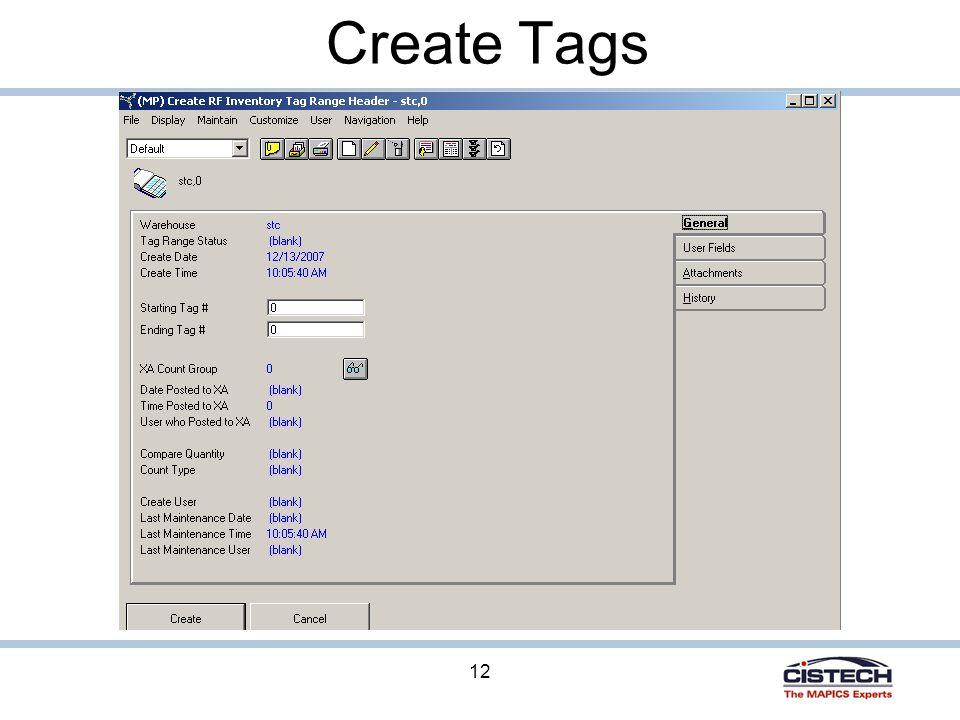 12 Create Tags