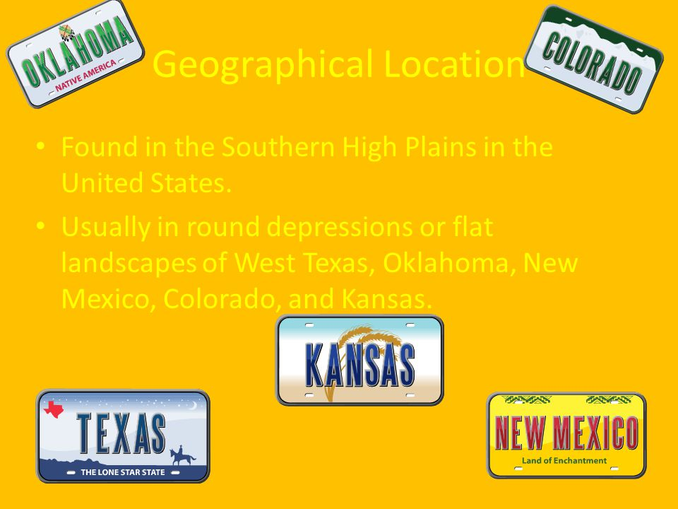 Geographical Location Found in the Southern High Plains in the United States.