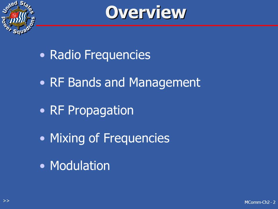 Electronics by Frequency MComm-Ch2 - 12 >>
