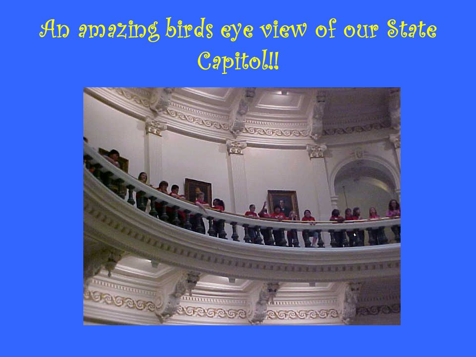An amazing birds eye view of our State Capitol!!
