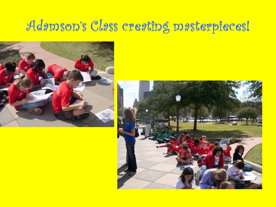 Adamson's Class creating masterpieces!