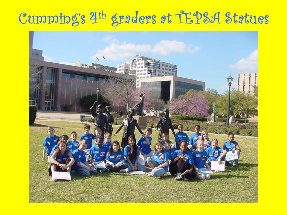 Cumming's 4 th graders at TEPSA Statues