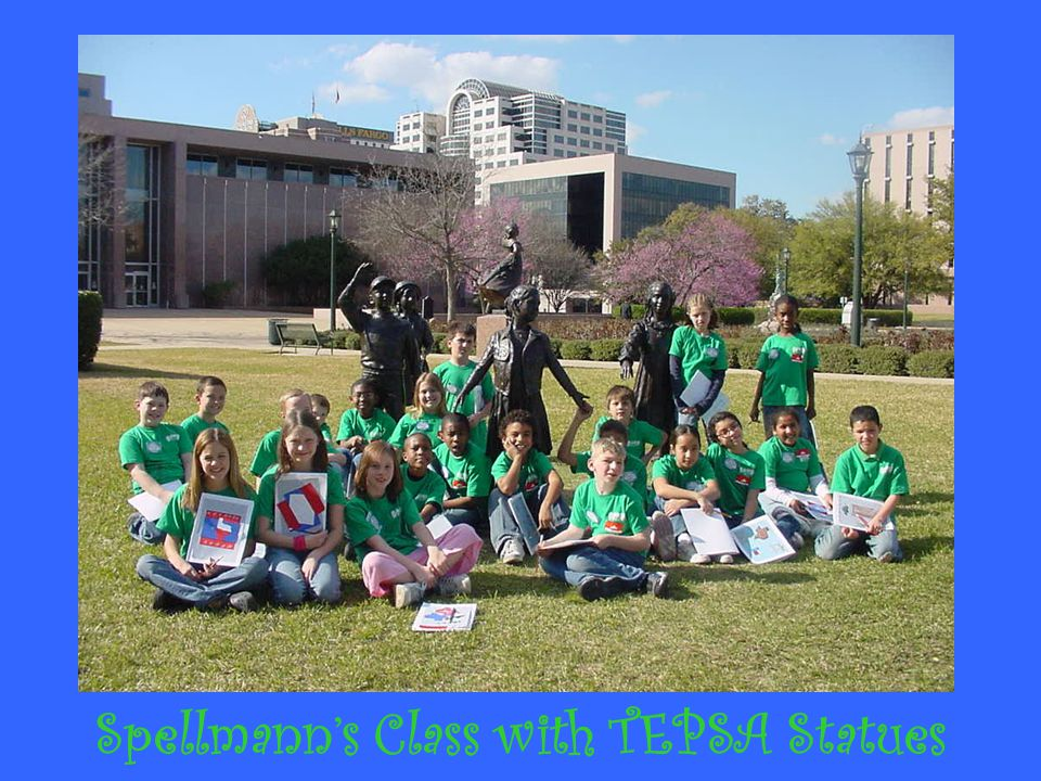 Spellmann's Class with TEPSA Statues