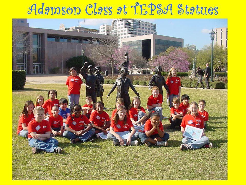 Adamson Class at TEPSA Statues