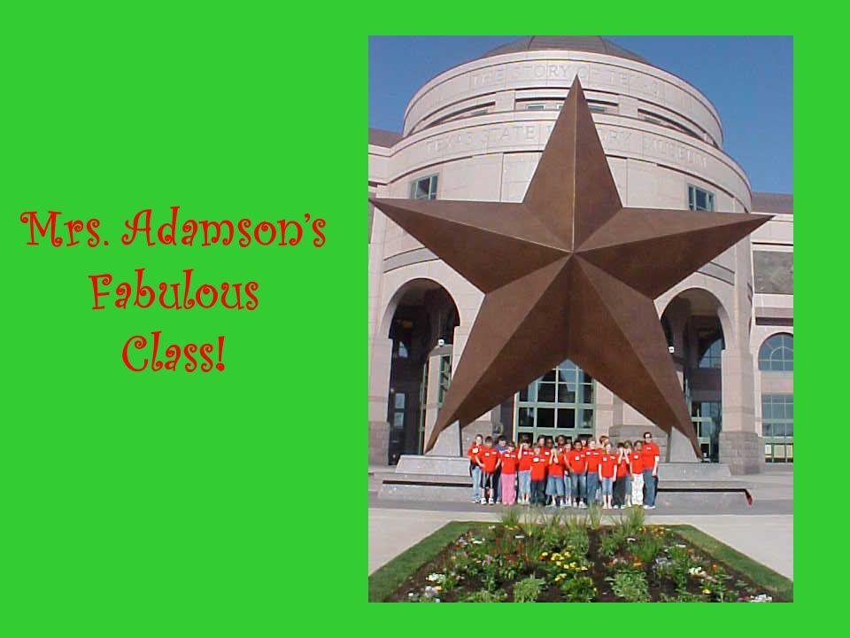 Mrs. Adamson's Fabulous Class!