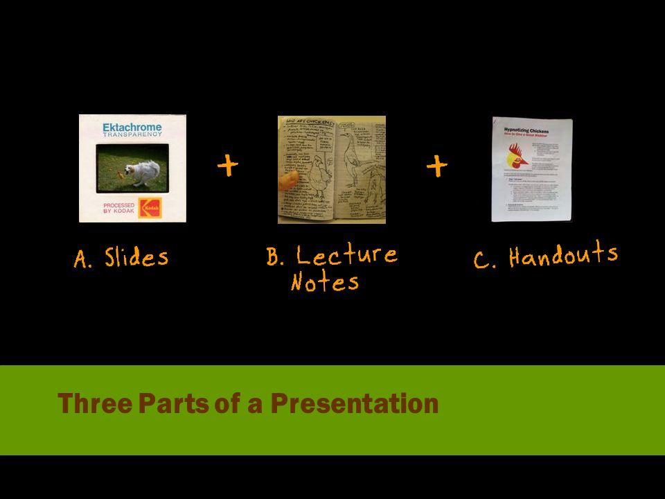 Three Parts of a Presentation
