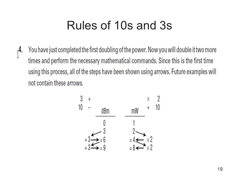 19 Rules of 10s and 3s