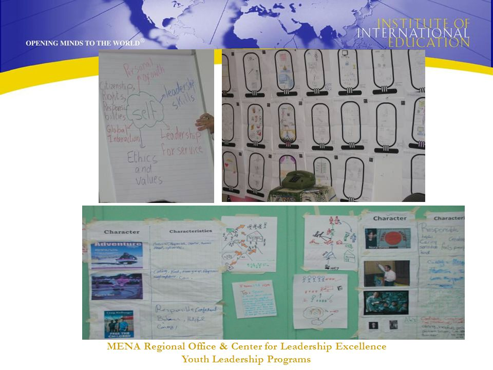 MENA Regional Office & Center for Leadership Excellence Youth Leadership Programs