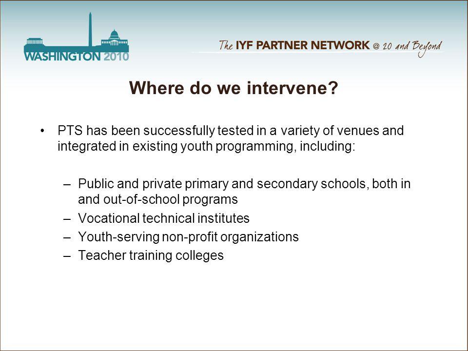 Where do we intervene.