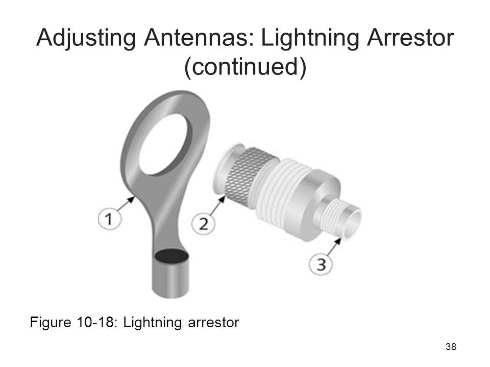 38 Adjusting Antennas: Lightning Arrestor (continued) Figure 10-18: Lightning arrestor