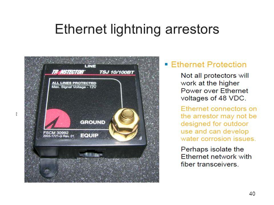 40 Ethernet lightning arrestors
