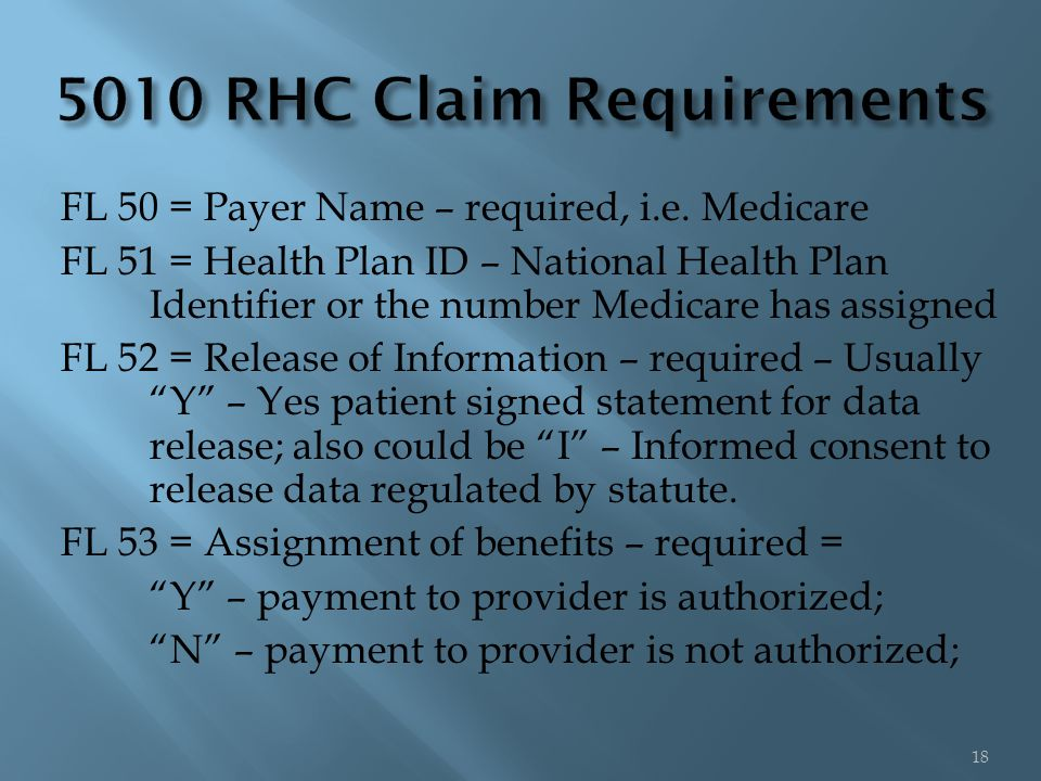 FL 50 = Payer Name – required, i.e.