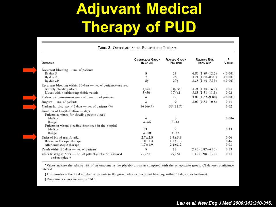 Lau et al. New Eng J Med 2000;343:310-316.