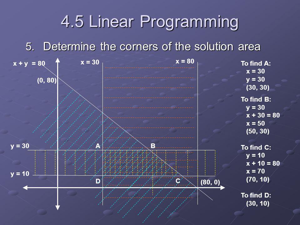 4.5 Linear Programming 5.