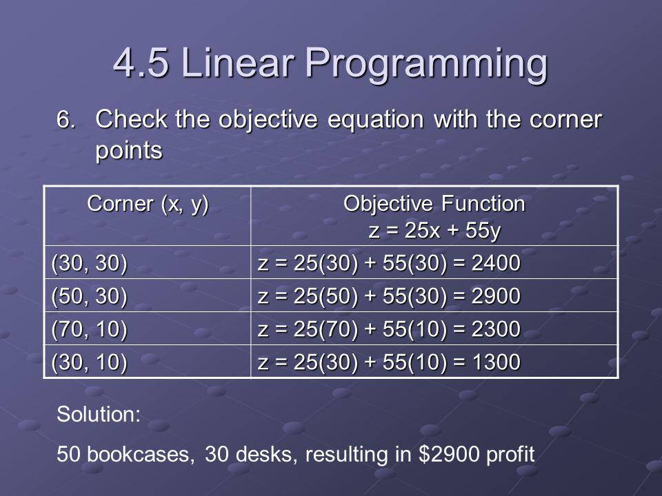 4.5 Linear Programming 6.