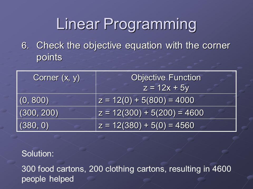 Linear Programming 6.