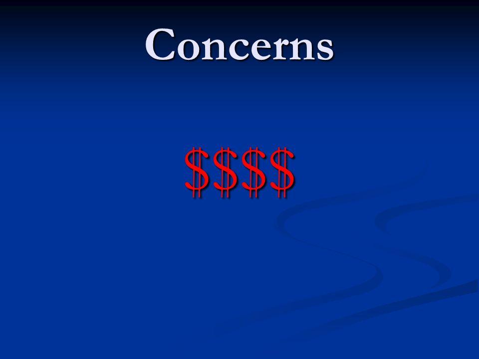 Concerns $$$$