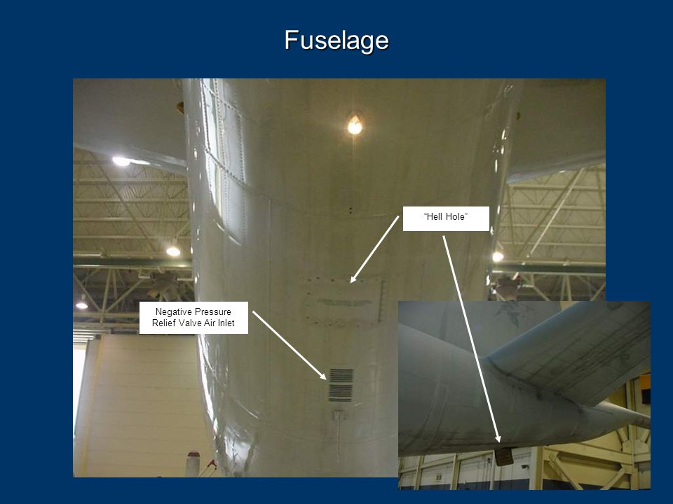 """105 Fuselage Negative Pressure Relief Valve Air Inlet """"Hell Hole"""""""