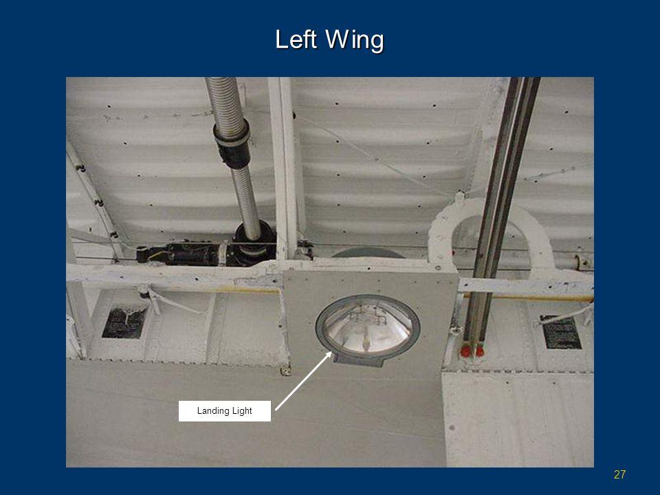27 Left Wing Landing Light