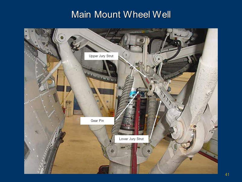 41 Main Mount Wheel Well Gear Pin Upper Jury Strut Lower Jury Strut