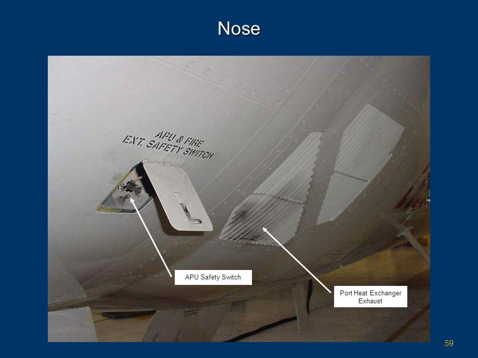 59 Nose APU Safety Switch Port Heat Exchanger Exhaust