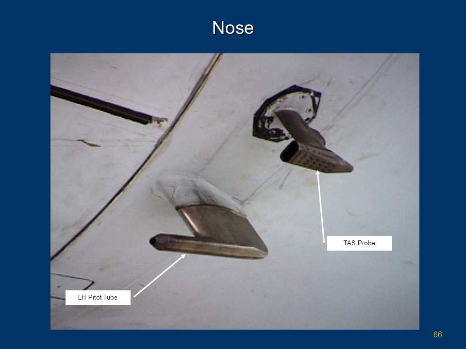 66 Nose LH Pitot Tube TAS Probe