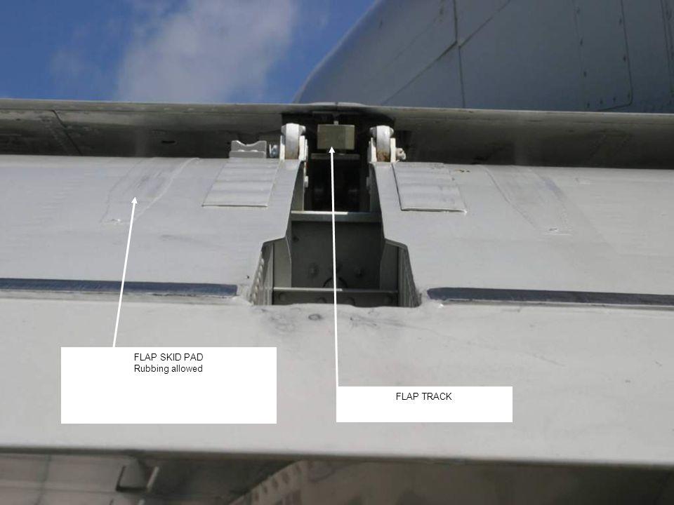 8 FLAP TRACK FLAP SKID PAD Rubbing allowed