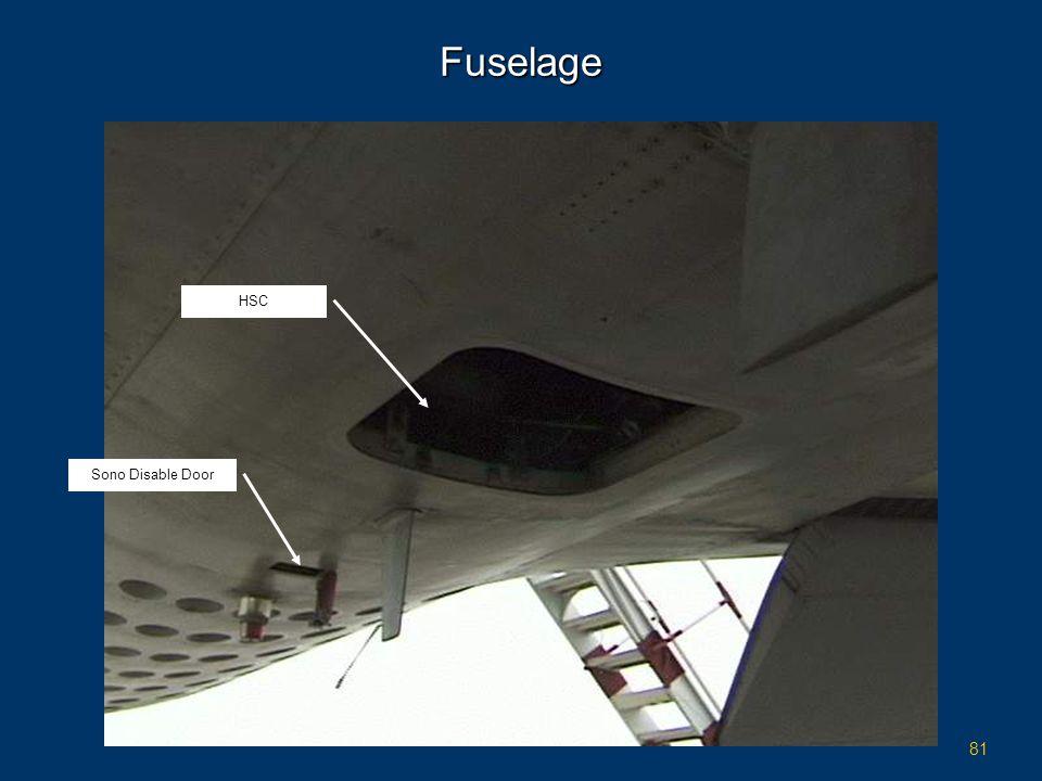 81 Fuselage HSC Sono Disable Door