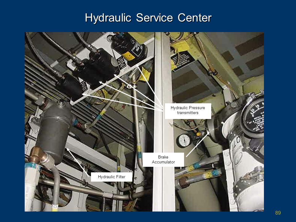 89 Hydraulic Service Center Hydraulic Filter Brake Accumulator Hydraulic Pressure transmitters