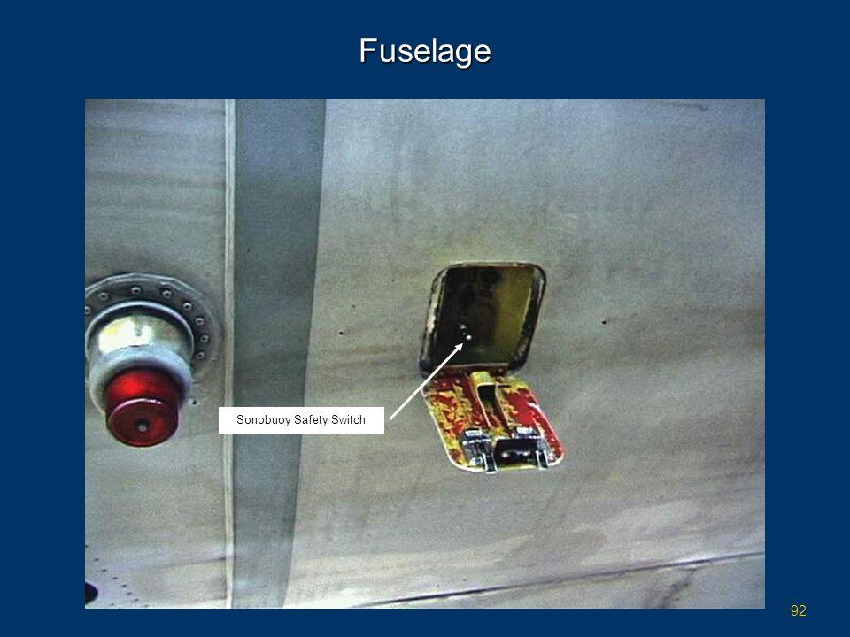 92 Fuselage Sonobuoy Safety Switch
