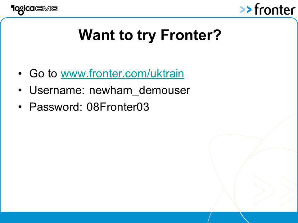 Want to try Fronter.