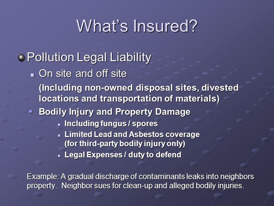 What's Insured.