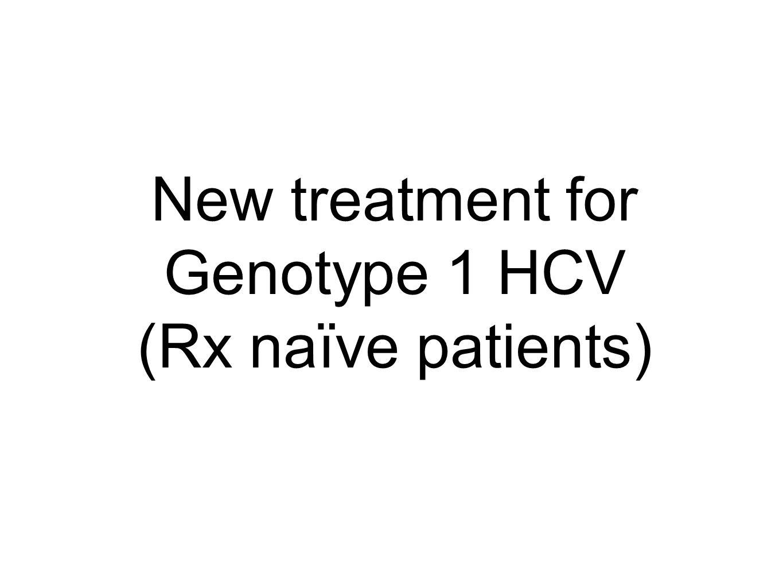 New treatment for Genotype 1 HCV (Rx naïve patients)
