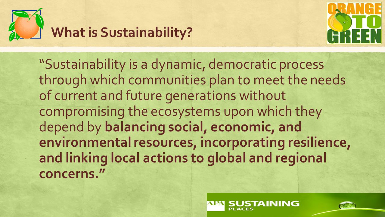 What is Sustainability.