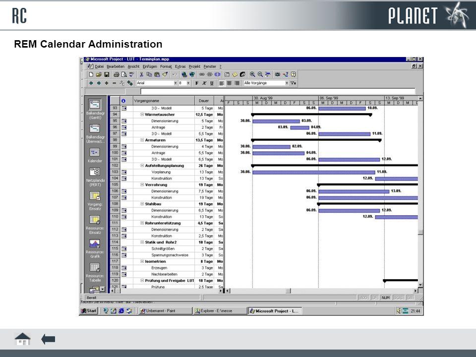 REM Calendar Administration