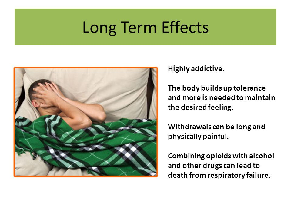 Long Term Effects Highly addictive.