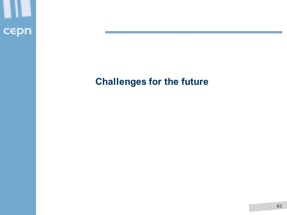 43 Challenges for the future