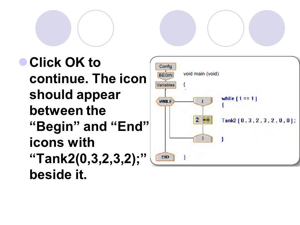 Click OK to continue.