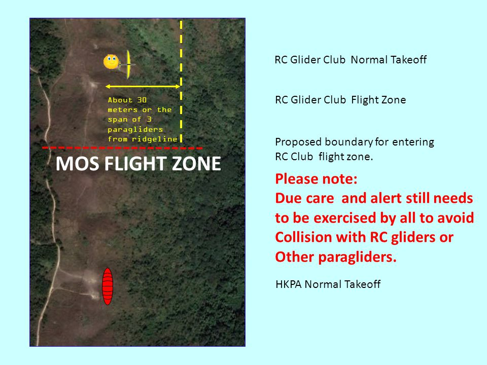 When lift is good, avoid crossing into the RC glider flight zone Flying Day With Good Lift