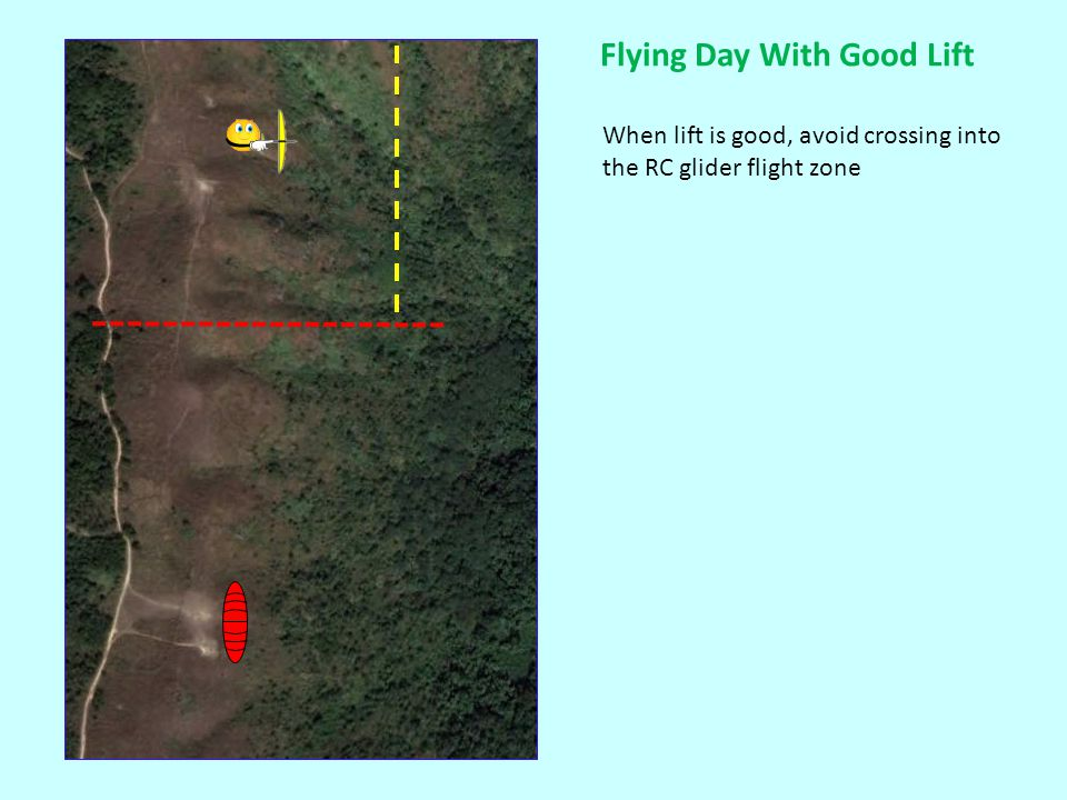 If lift is moderate, you may need to double back through our flight zone to gain some altitude before heading to Pyramid Hill.