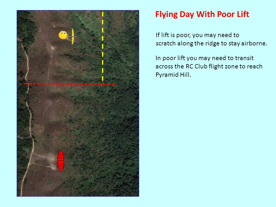 If you have to transit the RC Club Flight zone, blow your whistle first.