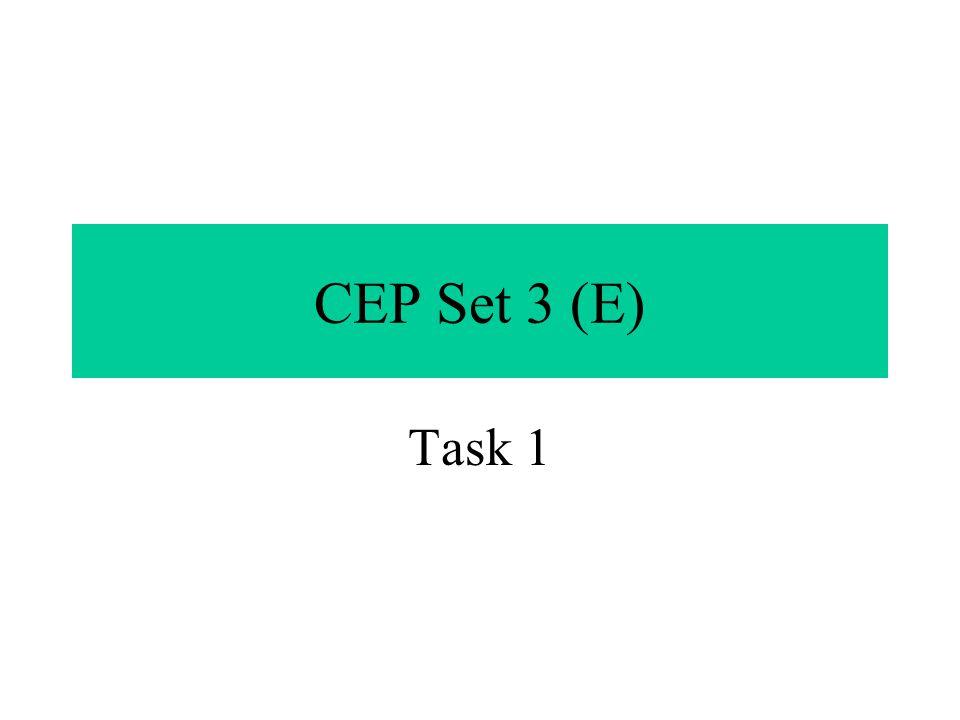 CEP Set 3 (E) Task 1