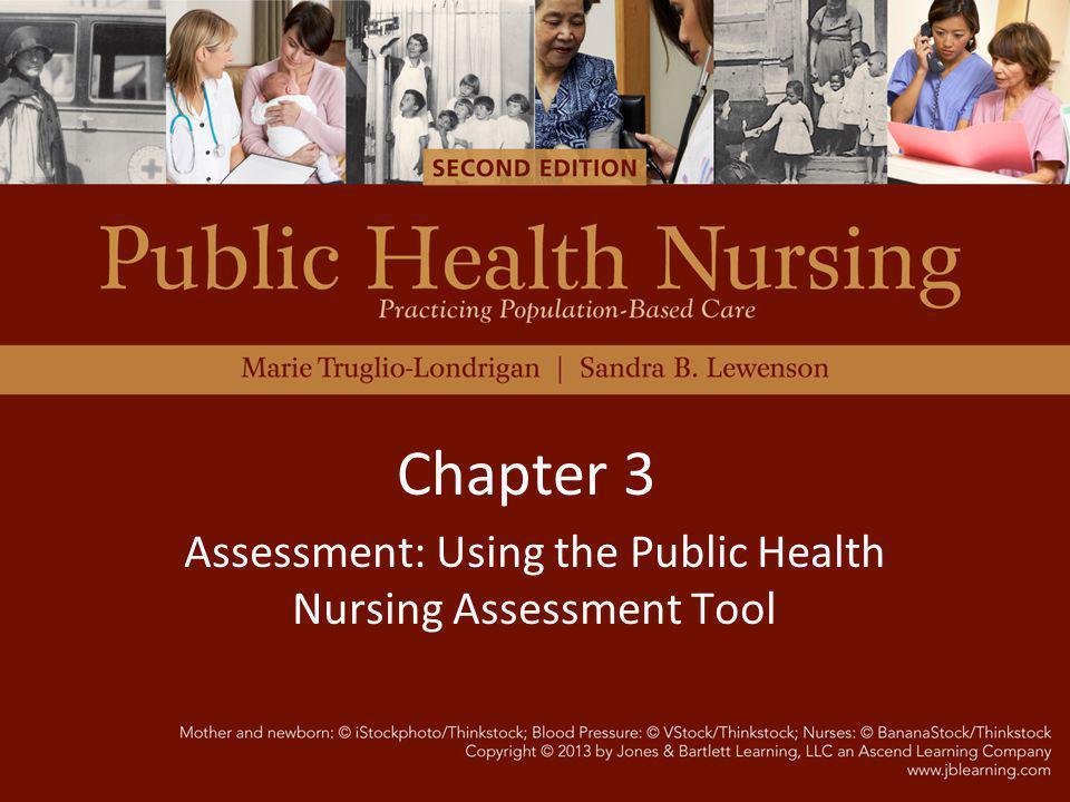 Assessment: Using the Public Health Nursing Assessment Tool Chapter 3
