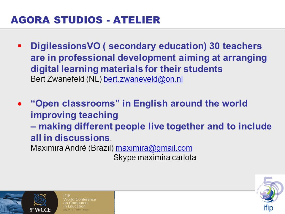 AGORA STUDIOS - ATELIER  DigilessionsVO ( secondary education) 30 teachers are in professional development aiming at arranging digital learning mater