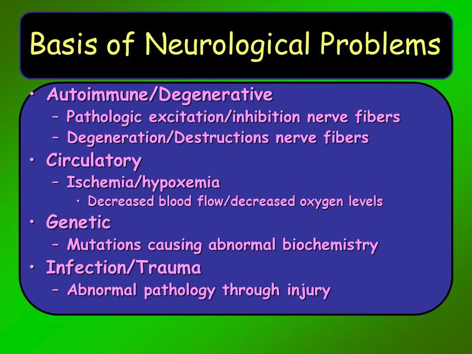 Degenerative Conditions Parkinson's diseaseParkinson's disease Multiple sclerosisMultiple sclerosis Brain tumorsBrain tumors