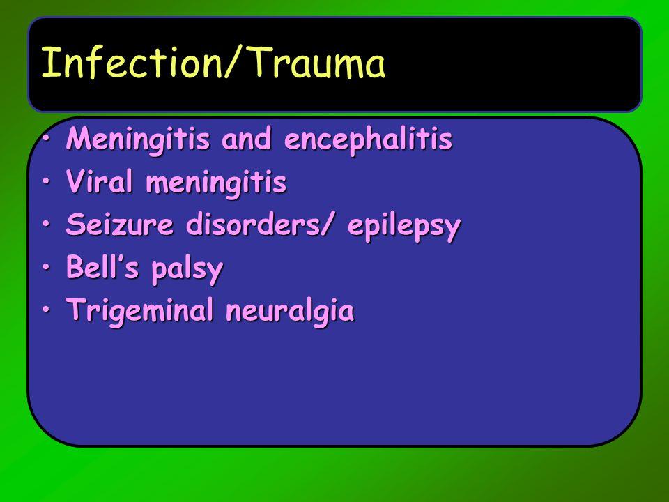 Migraine Headaches TypesTypes –Simple or Classic –Complex HemiplegicHemiplegic Possible Aggravating factors ( triggers ) –Stress / Emotion –Glare –Alcohol –Exercise –Stimulants: Excess Caffeine, cocaine, amphetamines –Foods –Analgesic rebound –Estrogen