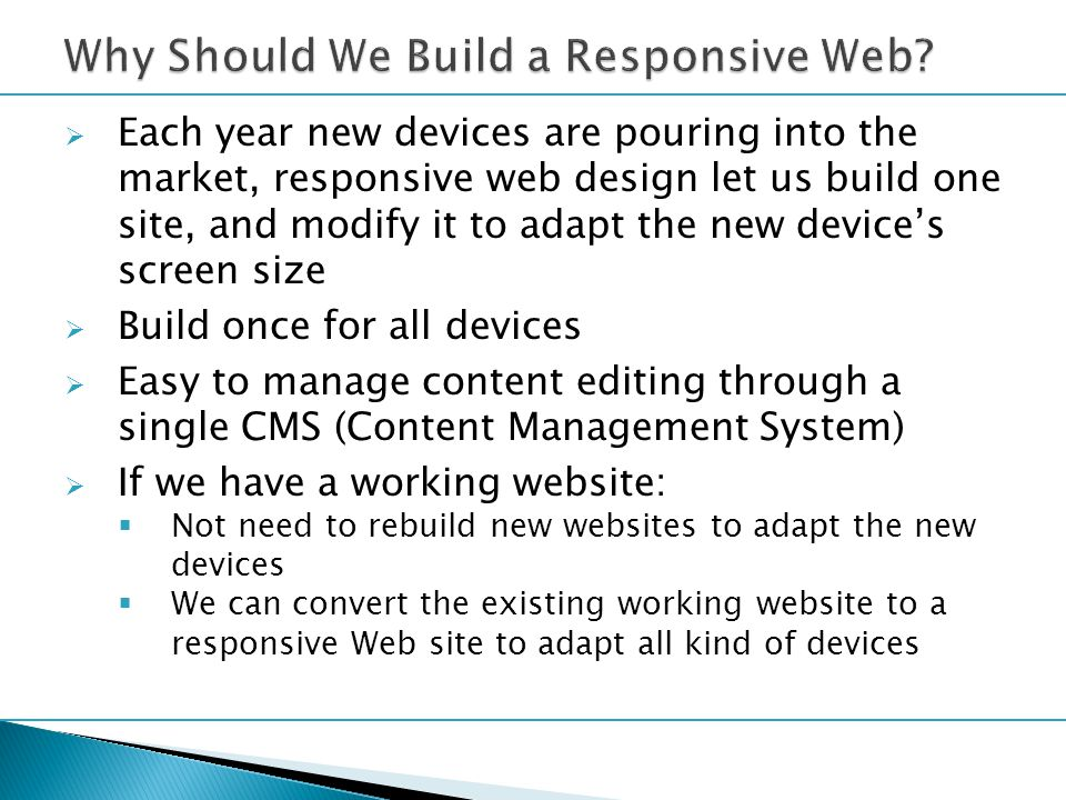  HCreating a Mobile-First Responsive Web Design http://www.html5rocks.com/en/mobile/responsivedesign/  How Fluid Grids Work in Responsive Web Design http://www.1stwebdesigner.com/tutorials/fluid-grids-in-responsive-design/  Responsive Web Design Techniques, Tools and Design Strategies http://mobile.smashingmagazine.com/2011/07/22/responsive-web-design- techniques-tools-and-design-strategies/  Good information about the viewport meta tag http://www.paulund.co.uk/understanding-the-viewport-meta-tag  The Ultimate Responsive Web Design Beginners Resource List http://www.targetlocal.co.uk/responsive-web-design-resourceshttp://www.targetlocal.co.uk/responsive-web-design-resources/  Developing Mobile Applications: Web, Native, or Hybrid.