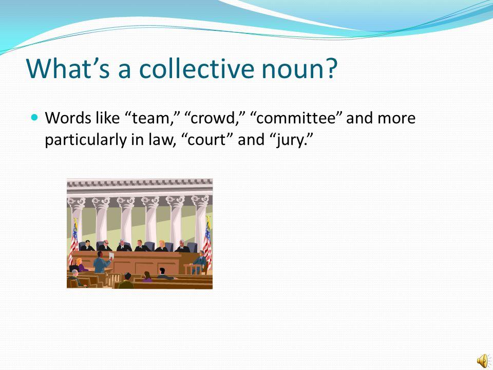 What's a collective noun.
